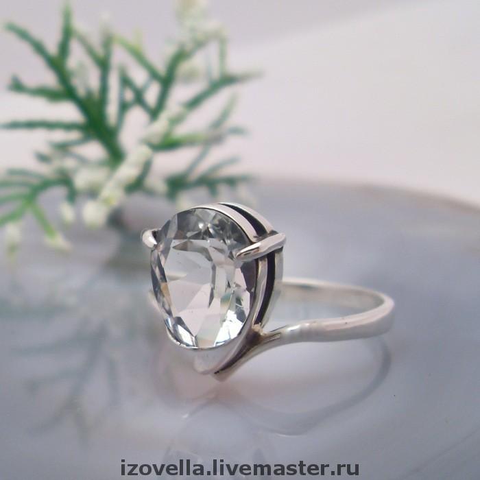 Ring 'Dream' - white Topaz, silver, Rings, Prague,  Фото №1