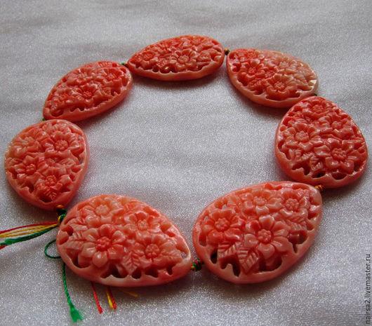 Для украшений ручной работы. Ярмарка Мастеров - ручная работа. Купить Резные бусины. Handmade. Резные бусины, бусины для бижутерии