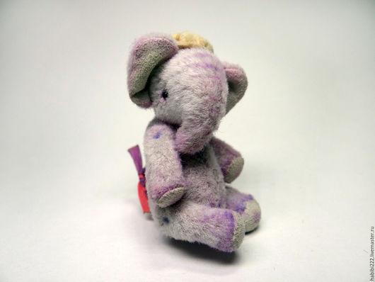 Мишки Тедди ручной работы. Ярмарка Мастеров - ручная работа. Купить Слон Гоша. Handmade. Бледно-сиреневый, подарок, игрушка