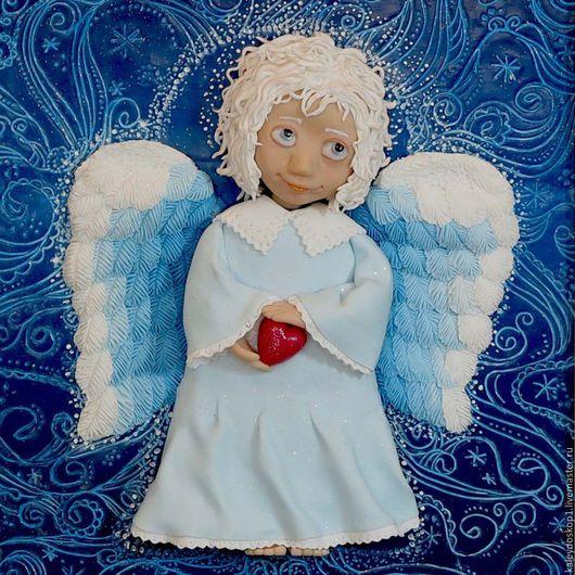 Детская ручной работы. Ярмарка Мастеров - ручная работа. Купить Картина Белый Ангел из полимерной глины. Handmade. Ангел