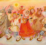 Картины и панно ручной работы. Ярмарка Мастеров - ручная работа Масленица. Handmade.