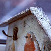 """Для дома и интерьера ручной работы. Ярмарка Мастеров - ручная работа Ключница """"Снегирь"""". Handmade."""