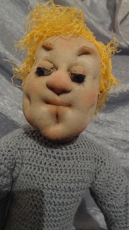 Коллекционные куклы ручной работы. Ярмарка Мастеров - ручная работа. Купить Вася. Не пришла.... Handmade. Серый, парень, плетеный