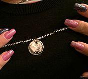 Украшения ручной работы. Ярмарка Мастеров - ручная работа Медальон с отпечатком пальца. Handmade.