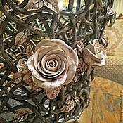 Цветы и флористика handmade. Livemaster - original item Pots Provence Grey (large). Handmade.