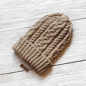 Аксессуары handmade. Livemaster - original item Knitted cap with a lapel