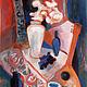 Картина. Натюрморт с балалайкой и виноградом работа Татьяны Петровской