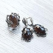 Украшения handmade. Livemaster - original item The Topaz (earrings and ring) (897). Handmade.