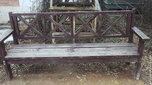 Фотокартины ручной работы. Ярмарка Мастеров - ручная работа. Купить Старая скамейка. Handmade. Коричневый, фотокартина, скамья, экологично, город