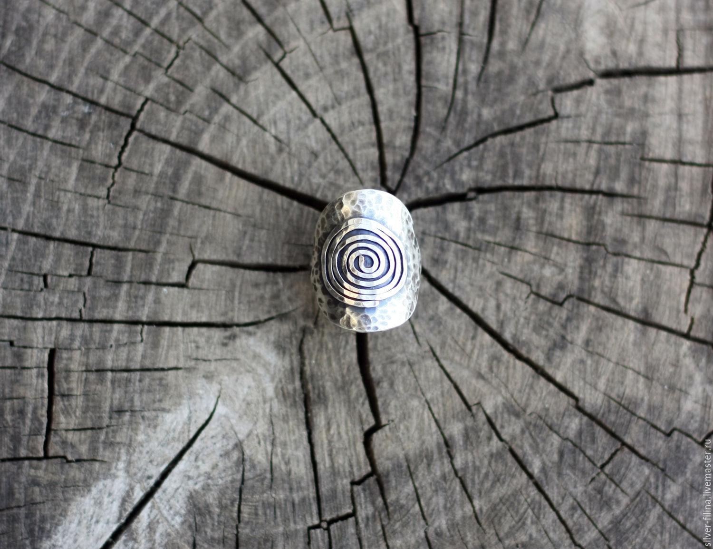 """Кольцо """"Снова спираль"""", серебро, Кольца, Орел, Фото №1"""