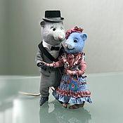 Мягкие игрушки ручной работы. Ярмарка Мастеров - ручная работа Влюблённые мыши. Handmade.