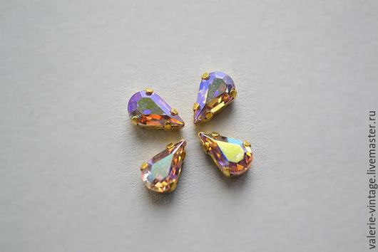 Для украшений ручной работы. Ярмарка Мастеров - ручная работа. Купить Винтажные кристаллы Swarovski 8х4,8 мм. цвет Light Amethyst AB. Handmade.