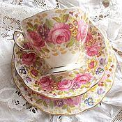 Винтаж ручной работы. Ярмарка Мастеров - ручная работа Винтажное чайное трио Serena. Handmade.