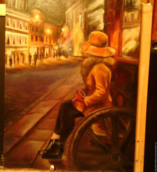 Люди, ручной работы. Ярмарка Мастеров - ручная работа. Купить Свидание в Риге. Handmade. Комбинированный, цвет карри, масляные краски