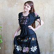 Одежда ручной работы. Ярмарка Мастеров - ручная работа Вышитое платье Графиня роз. Handmade.