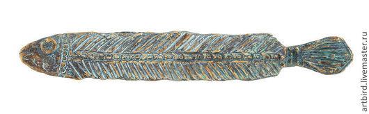 Статуэтки ручной работы. Ярмарка Мастеров - ручная работа. Купить Скульптура Рыба. Handmade. Бронзовый, артефакт, культура, бронза