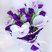 Цветы и флористика handmade. Livemaster - original item Bouquet of 11 candy Orchid. Handmade.