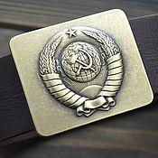 Аксессуары handmade. Livemaster - original item I want to go back to the USSR ))) leather belt. Handmade.