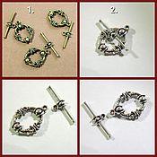 Материалы для творчества handmade. Livemaster - original item The lock Toggle for decorations. Handmade.