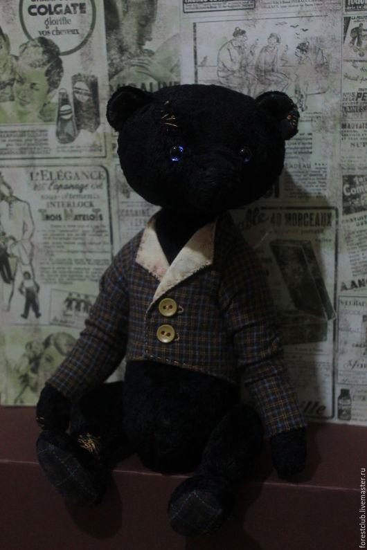 Мишки Тедди ручной работы. Ярмарка Мастеров - ручная работа. Купить Мишка тедди Бруно. Handmade. Черный, коллекционный мишка