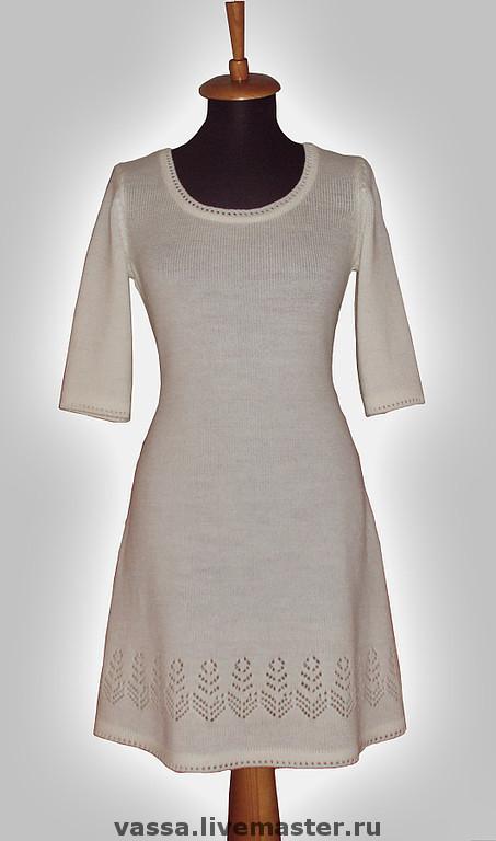 Платья ручной работы. Ярмарка Мастеров - ручная работа. Купить Белое платье. Handmade. Платье, однотонный