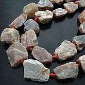 Бусины ручной работы. Ярмарка Мастеров - ручная работа Солнечный камень бусины камни, нитка. Handmade.