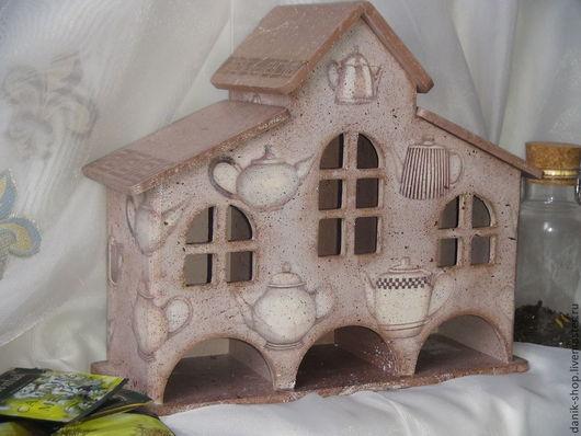 """Кухня ручной работы. Ярмарка Мастеров - ручная работа. Купить Чайный домик """"Уютное чаепитие"""". Handmade. Бежевый, чайники, дерево"""