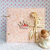 Канцелярские товары ручной работы. Ярмарка Мастеров - ручная работа Фотоальбом и мамины заметки 2в1 для маленькой принцессы. Handmade.