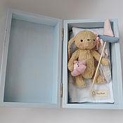 Куклы и игрушки ручной работы. Ярмарка Мастеров - ручная работа Зайка-смелая малышка! плюшевая игрушка (sveta-cvetkova). Handmade.