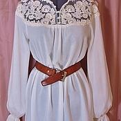 """Одежда ручной работы. Ярмарка Мастеров - ручная работа Блузон """"Кружева"""". Handmade."""