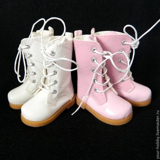 Куклы и игрушки ручной работы. Ярмарка Мастеров - ручная работа. Купить Сапожки стеганные 6,8см, обувь для кукол. Handmade.