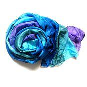Аксессуары handmade. Livemaster - original item Batik Stole Crinkled