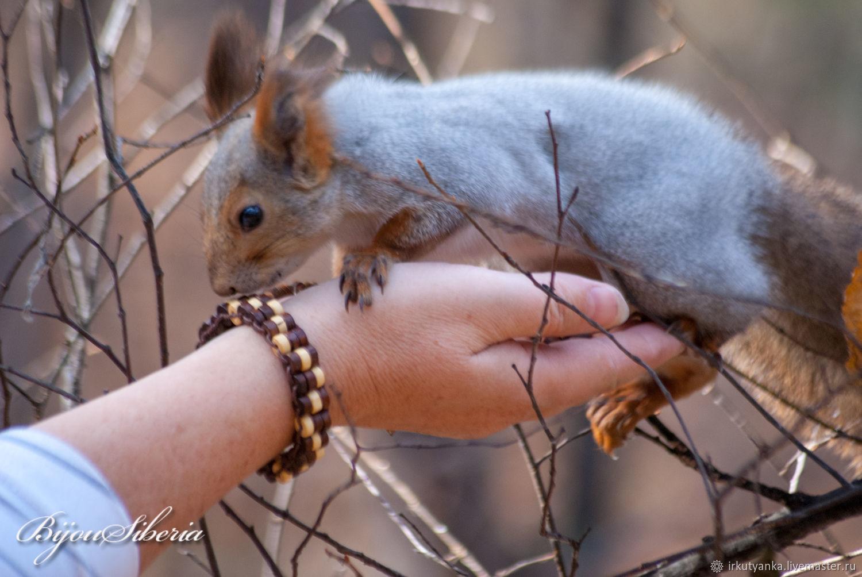 Bracelet made of wooden washers with a picture, Bead bracelet, Irkutsk,  Фото №1