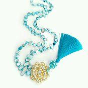 Украшения handmade. Livemaster - original item With pendant mother of pearl with silk tassel. Handmade.
