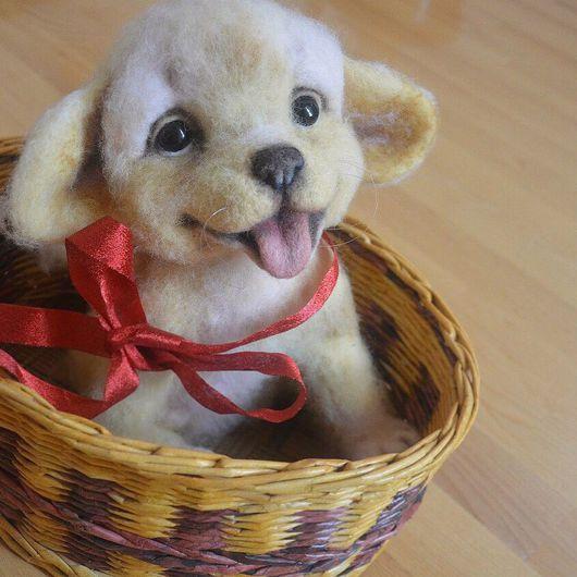 """Игрушки животные, ручной работы. Ярмарка Мастеров - ручная работа. Купить Войлочная игрушка щенок """"Ричард"""". Handmade. Озорной, щенок"""