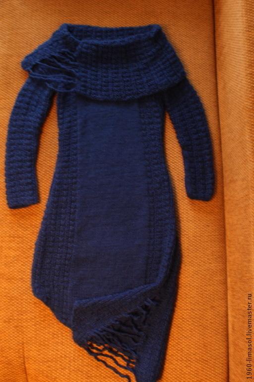 """Платья ручной работы. Ярмарка Мастеров - ручная работа. Купить платье вязаное """"Каприз Ундины"""". Handmade. Тёмно-синий, вечернее"""