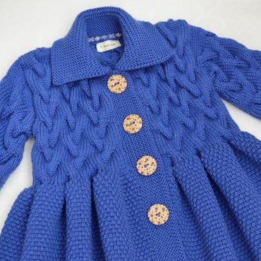 """Работы для детей, ручной работы. Ярмарка Мастеров - ручная работа Пальто вязаное для девочки """"Blue ice"""". Handmade."""