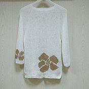 Одежда ручной работы. Ярмарка Мастеров - ручная работа Вязаный джемпер  Монвизо, 100%  лен, Испания. Handmade.