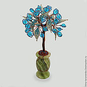 Цветы и флористика handmade. Livemaster - original item The tree of life from Topaz in a vase of onyx. Handmade.