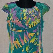 Одежда ручной работы. Ярмарка Мастеров - ручная работа Блуза-Батик``Ритм``. Handmade.