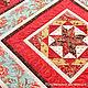 """Текстиль, ковры ручной работы. Ярмарка Мастеров - ручная работа. Купить Лоскутное одеяло """" Красная горка """" с инеем. Handmade."""