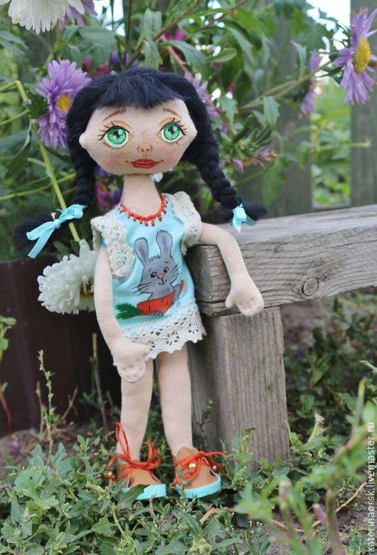Коллекционные куклы ручной работы. Ярмарка Мастеров - ручная работа. Купить текстьтильная кукла. Handmade. Голубой, кукла, кукла в подарок