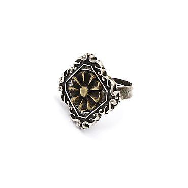 Decorations handmade. Livemaster - original item Enfilade ring with bronze insert. Handmade.
