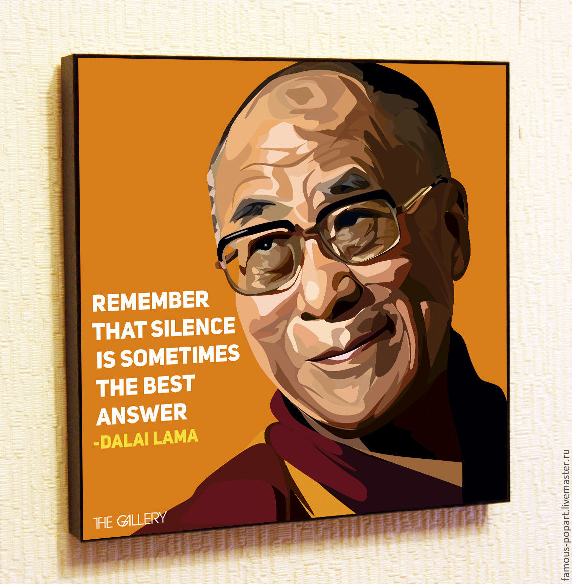The picture of the Dalai Lama in the style of Pop Art, Pictures, Moscow,  Фото №1