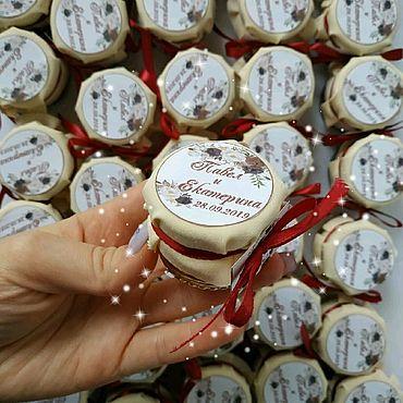 Свадебный салон ручной работы. Ярмарка Мастеров - ручная работа Бонбоньерки айвори и бордо. Handmade.