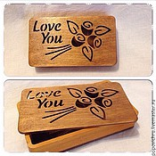 Для дома и интерьера handmade. Livemaster - original item Wooden box for jewelry, money for ordering. Handmade.