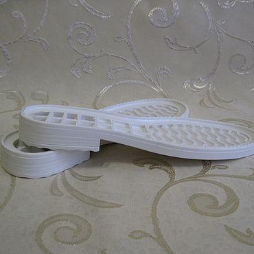 Обувь ручной работы. Ярмарка Мастеров - ручная работа Балетки: подошва 50612 женская белая. Handmade.