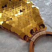 Классическая сумка ручной работы. Ярмарка Мастеров - ручная работа Вязаная сумка с пайетками. Handmade.