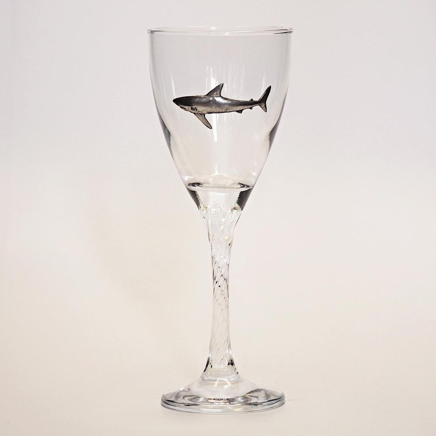 Wine glass BIG SHARK gift to the diver (twisted leg), Gifts for February 23, Zhukovsky,  Фото №1