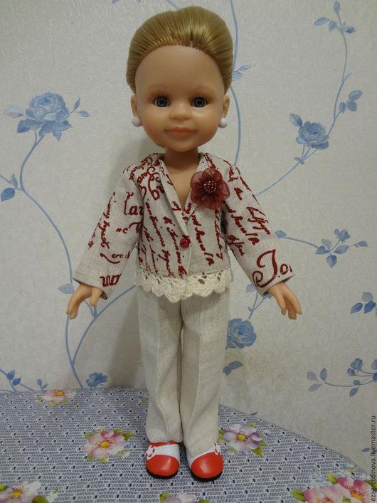 Одежда для кукол ручной работы. Ярмарка Мастеров - ручная работа. Купить Одежда для кукол Paola Reina 32-34 см Лён-2!. Handmade.